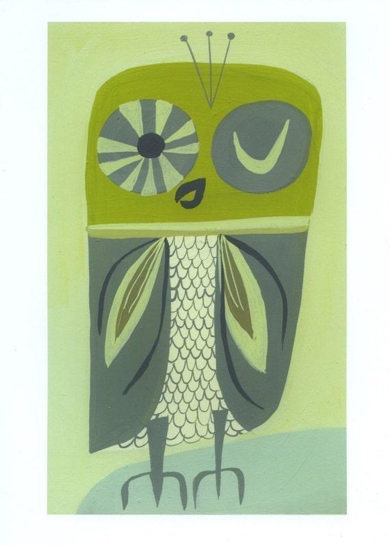 Owl print by Matte Stephens