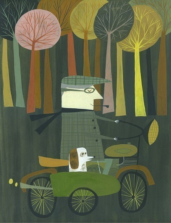 Riding Home.  Limited edition 11x14 print by Matte Stephens.