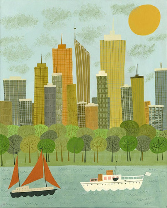 Perth.  Limited edition print by Matte Stephens.