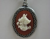 Vintage Miss Piggy Cameo Necklace...Hi-YAAHHH