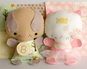 Wittle Whimsy Charlie and Princess Kitty PDF Doll Pattern