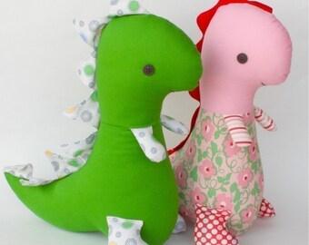 Tommy T Rex PDF Dinosaur Doll Pattern