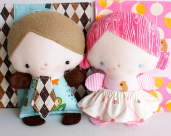 SALE Wittle Whimsy Harry & Ginny PDF Doll Pattern