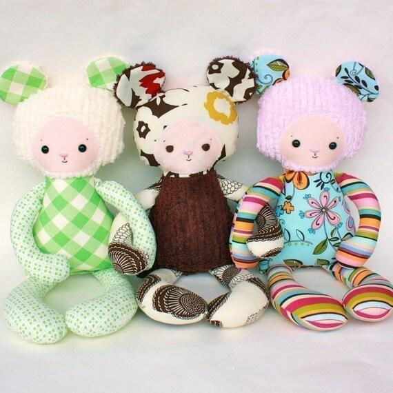 SALE Boo Bear PDF Doll Pattern