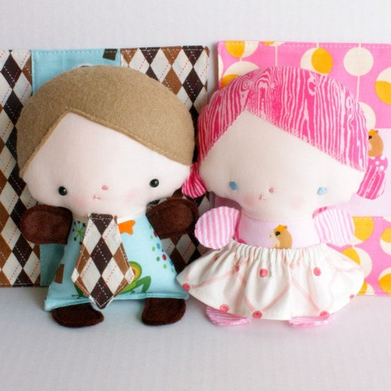 Wittle Whimsy Harry & Ginny PDF Doll Pattern