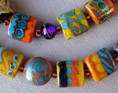 California Crafts - Terracotta handmade lampwork bead set of 42