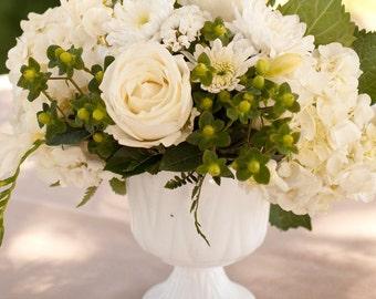 Very Pretty Milk Glass Planter Compote Vase