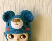 Bear hat for blythe blue