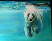 ORIGINAL oil painting-Polar Bear