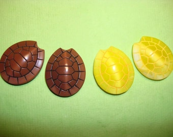 Vintage Turtle Shell Glass Cabachons