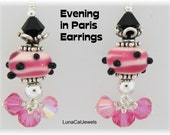 Reserved - Evening in Paris Earrings