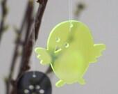 Easter Chicks in neon green plexiglas
