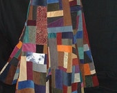 Hippie Patchwork Corduroy Lined Bell Skirt, limited time free shipping  RESERVED for stargazr78