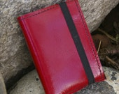 Leather Notebook Cover- Rhodia Mini Notebook in Tristan Red