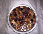 Bronze Glass Tile Mosaic Small Trivet