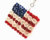 Flag cake necklace : American flag