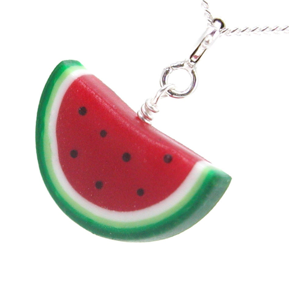 watermelon necklace by inediblejewelry on etsy