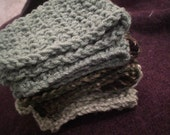 Green and Camo Washcloth 3 Pack