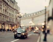 London Photography, Abstract London Print, Regent Street, Travel Photo, London Decor, Gold British Wall Art - She Called Herself London