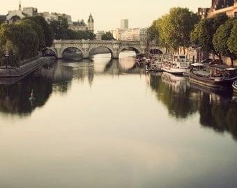 Pont Neuf, Paris Photography, Bridge, Seine River, Romantic, Dreamy Travel Photography, Paris Art, 8x8 - Once Upon a River