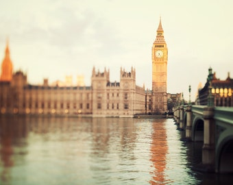 "London Skyline, London Photography, Big Ben, Westminster Sunrise, London Art, Architecture Print, Travel Photo, ""Good Morning London"""