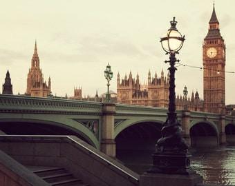 London Photography, London Wall Art, England Art Print, Big Ben, Travel Photography, British Wall Decor, 8x8 - A Day in the Life