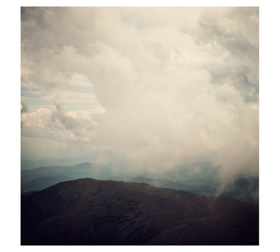 Landscape Photograph, Mountains, Clouds - Head in the Clouds - Fine art photography