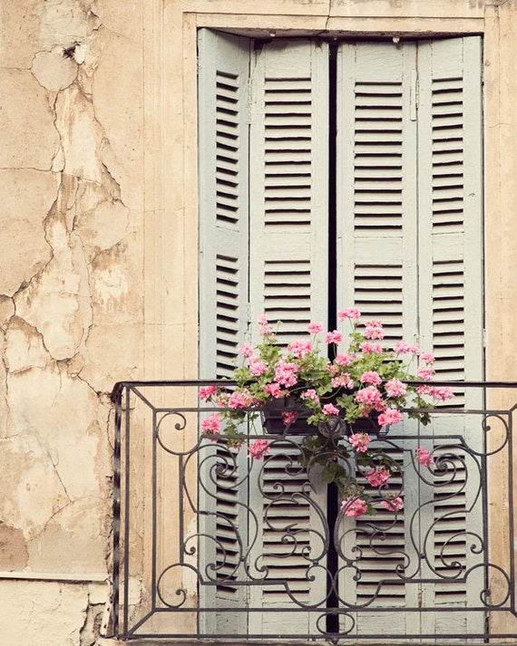 Rustic french country window print french architecture for Balcony french