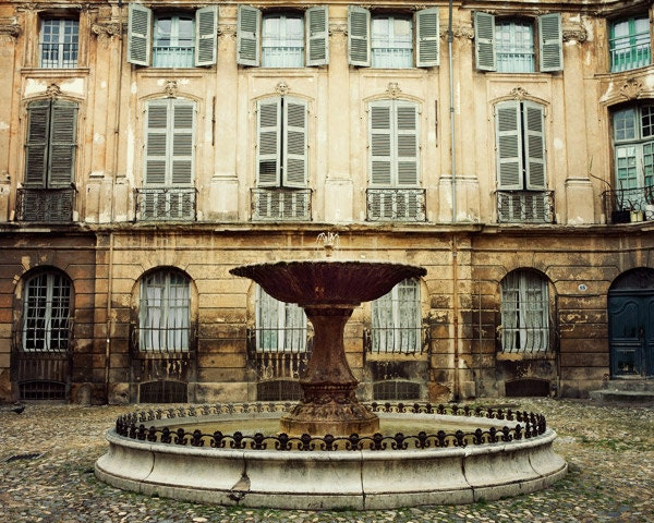 Provence photograph french country decor aix en provence for Decoration rocaille aixen provence