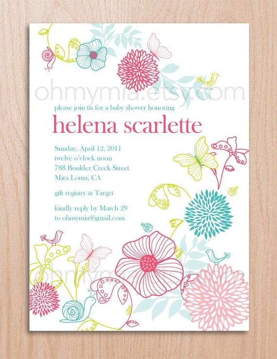 Wedding Shower Invitations Etsy for amazing invitations design