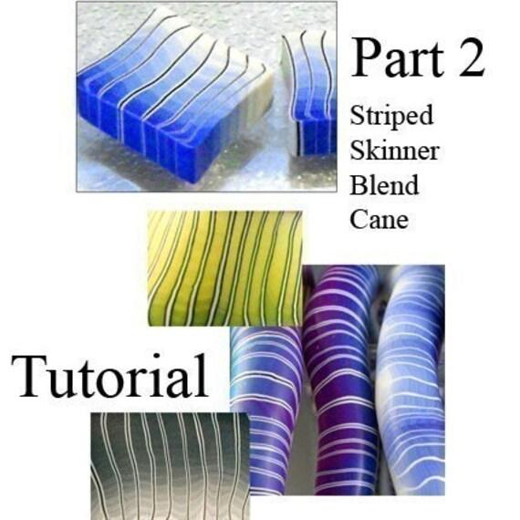 Tutorial - Make a Striped Skinner Blend Cane PART 2