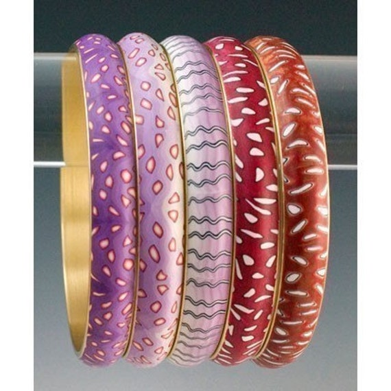 Tutorial - Make a Brass Channel Bangle with Polymer Clay