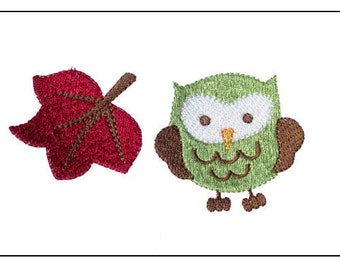 Fall Embroidery Design 4x4 Autumn Owl Embroidery Designs Set of 8 PES JEF HUS dst sew xxx vip