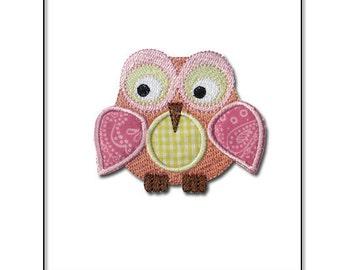 Owl Applique Design  Machine Embroidery Design Fits  4x4 PES JEF HUS dst sew xxx vip