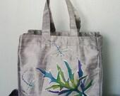 Silver Silk Dupioni Tote Bag