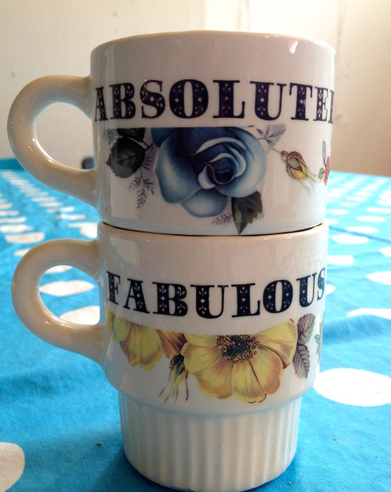 Matching stacking cups - Absolutely Fabulous