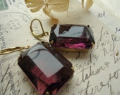 Amethyst, bridal,octagon, vintage, statment. assemblage jewelry by sacredcake on etsy  gift box