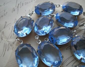 blue Statement Necklace, pale blue necklace, georgian, Anna Wintour, collet necklace, light sapphire necklace, light blue necklace.