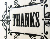 Thanks- 6 folded gift tags
