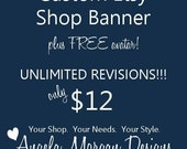 Custom Etsy Shop Banner with UNLIMITED revisions