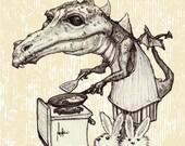 Breakfast Dragon Print