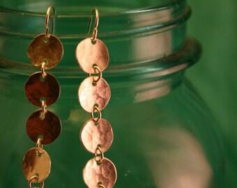 xs five disc silver chandelier earring.