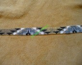 loomed/square stitched beaded Native American inspired bracelet