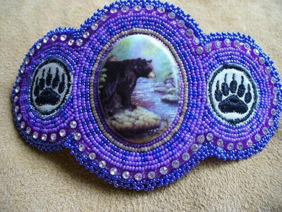 Bear Medicine barrette Purple