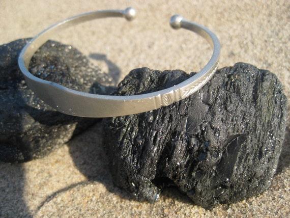 Silver Etched West-African Bracelet