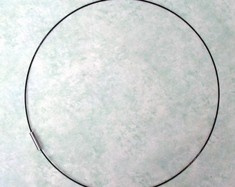 18  inch  Black Magnetic Cord, Black Choker, Pendant Cord