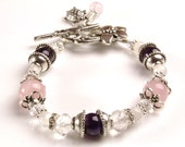 APHRODITE Fertility and Pregnancy Bracelet with Rose Quartz, Rock Crystal, Moonstone and Amethyst, TTC bracelet, IUI support,Crystal Healing