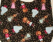 Trick or Treat baby  or toddler bib--truly adorable print
