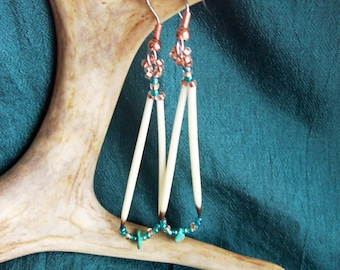 Turquoise Quill Earrings