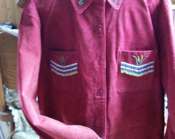 Suede Beaded Jacket